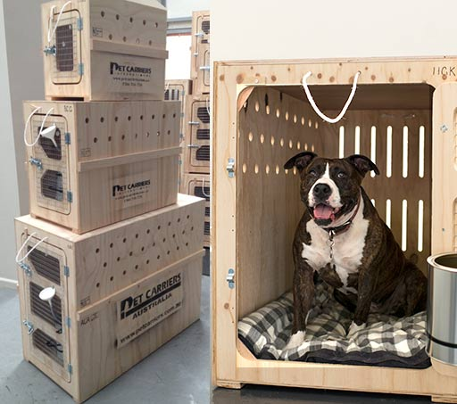 Pet Carriers Wooden Traveling Kennels